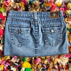 True Religion 600 denim miniskirt size 28